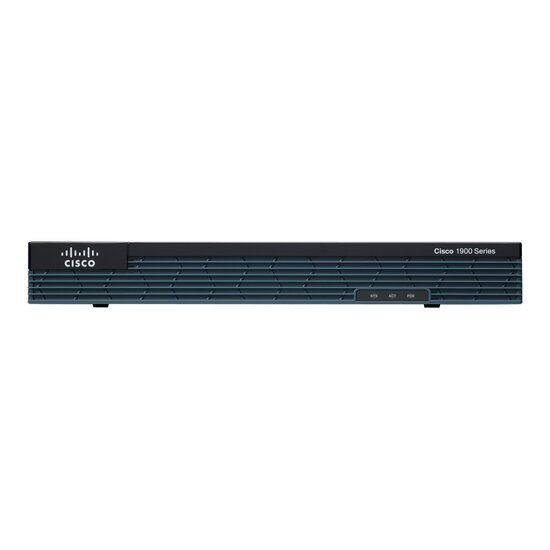 Cisco 1921 - Router - GigE - an Rack montierbar  2x Gigabit Ethernet - 2 EHWIC slots - 256MB USB Flash - 512MB DRAM